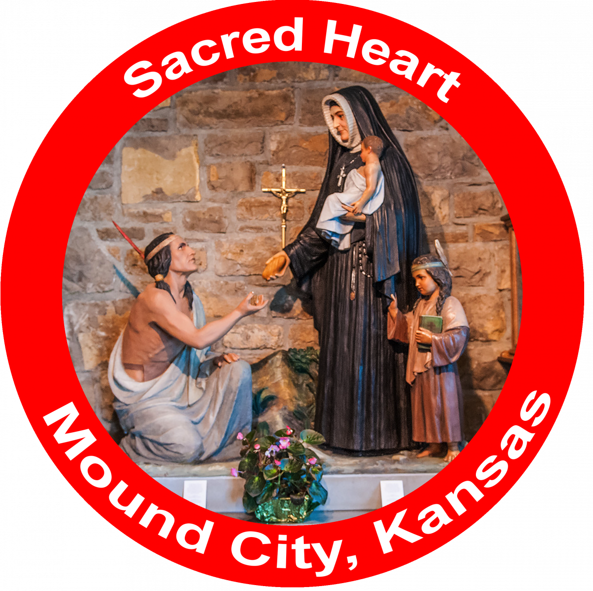 Sacred Heart Catholic Church in Mound City Kansas